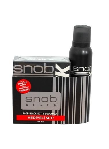 Snob Snob Black Edt 100Ml+Deo150Ml Erkek Parfüm Set Renksiz